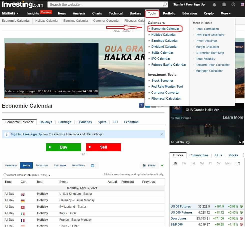 سایت اینوستینگ investing.com